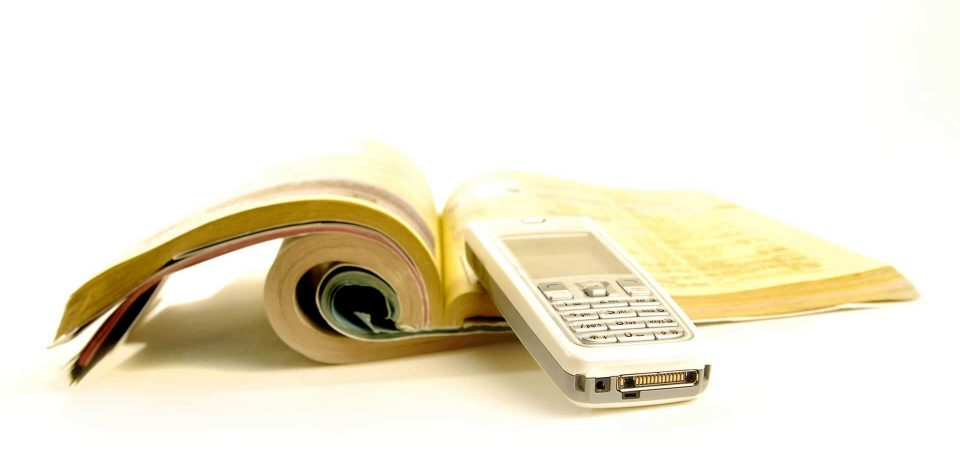 White pages and Yellow pages in Phone Book